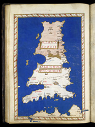 Map of Great Britain by Henricus Martellus